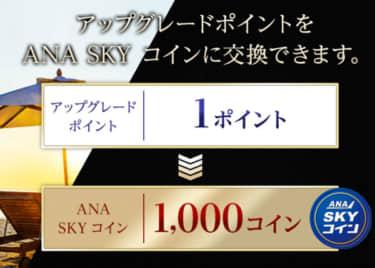 ANAアップグレードポイントANA SKY コイン交換キャンペーン(2020)