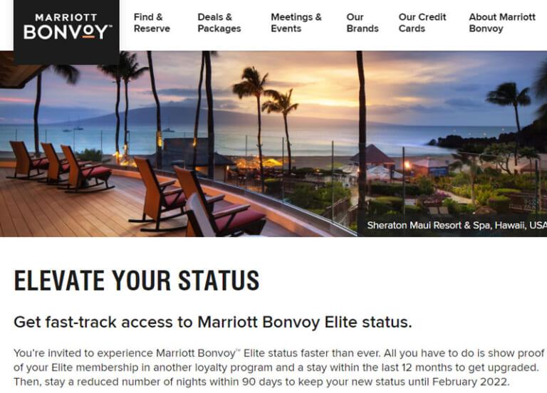 Marriott Bonvoy Status Match