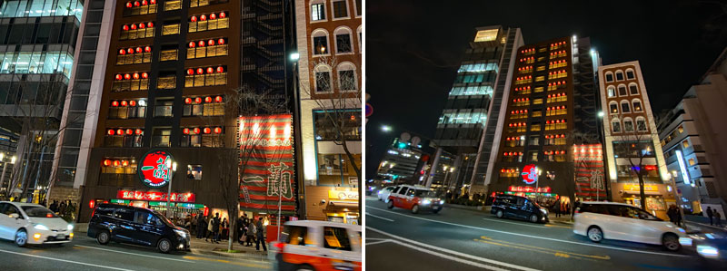 iPhone超広角レンズの作例 夜景