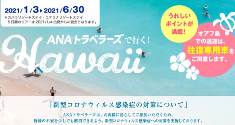 ANAがハワイツアーを販売開始