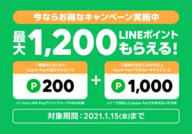 LINE PayをApplePayで使うと50%還元