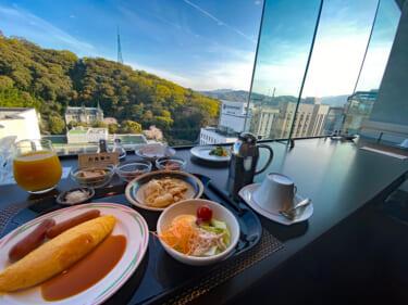 クラウンプラザ松山 朝食会場からの眺望