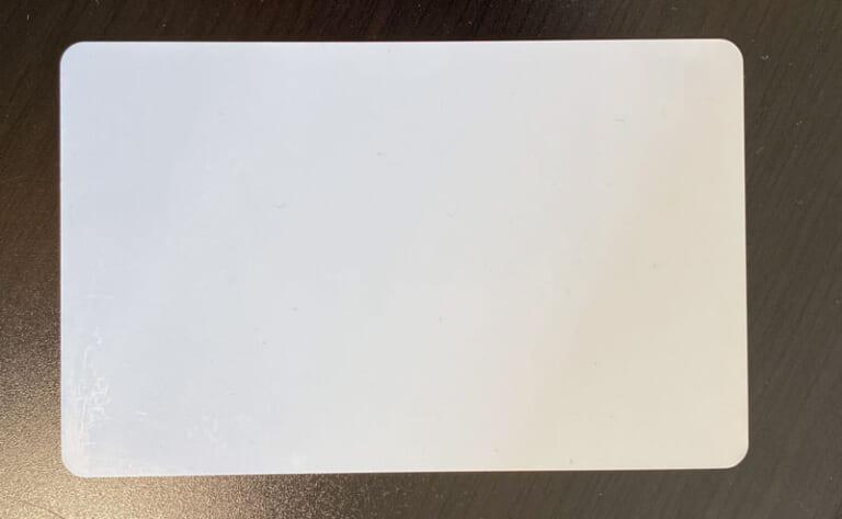白いカード