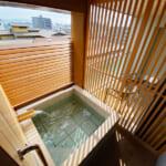 道後御湯 客室の露天風呂