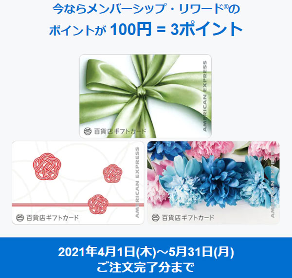 AMEX 百貨店ギフトカード