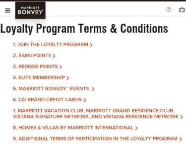 Terms & Conditions | Loyalty Rewards Program | Marriott Bonvoy